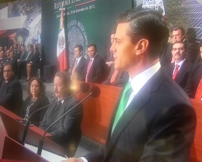 Enrique Peña Nieto, durante la Promulgación de la Reforma Energética