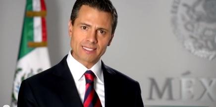 Enrique Peña Nieto, durante el mensaje de inicio de año, emitido ayer en cadena nacional