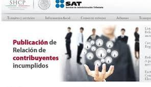 Imagen: Página del SAT