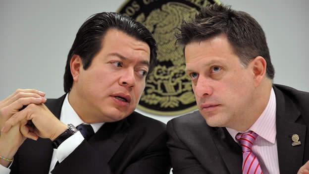 Mario Delgado y Fernando Belaunzaran