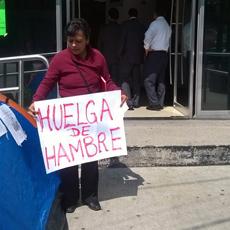 Gabriela Sánchez en huelga de hambre Foto: AZM CIMAC